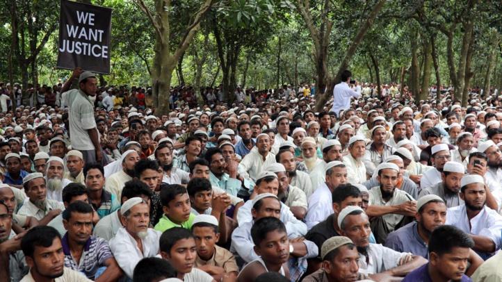 Les Rohingyas réclament justice un an après leur exode massif de Birmanie