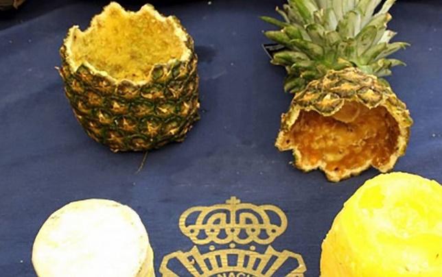 Insolite : La cocaïne était cachée dans des ananas