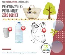 Action de nettoyage et de sensibilisation au marché de Benjdia