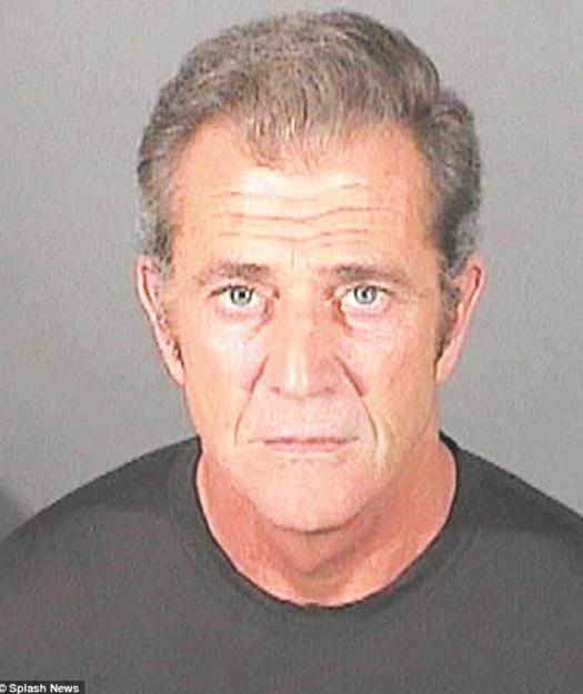 Quand les stars se font tirer le portrait en prison !  Mel Gibson
