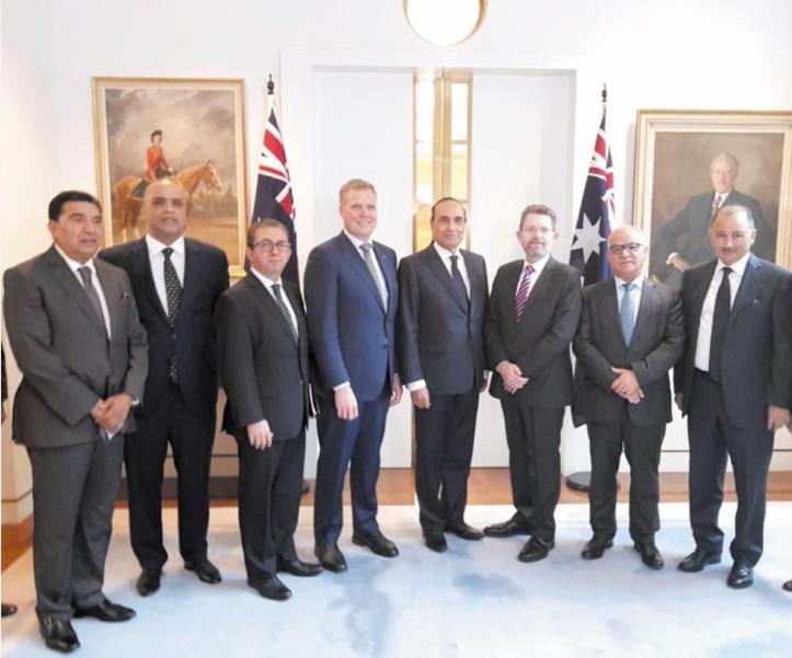 Le président de la Chambre des représentants en visite à Canberra