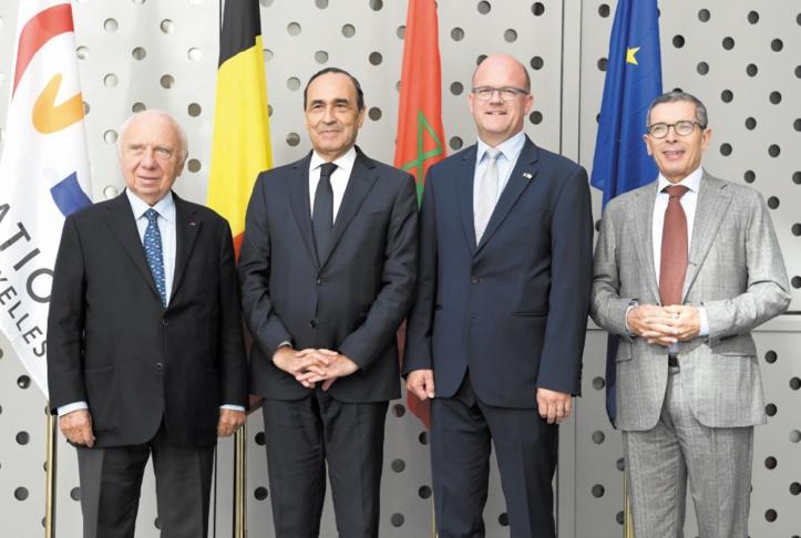 Habib El Malki s'entretient avec le président du Parlement de la Fédération Wallonie-Bruxelles