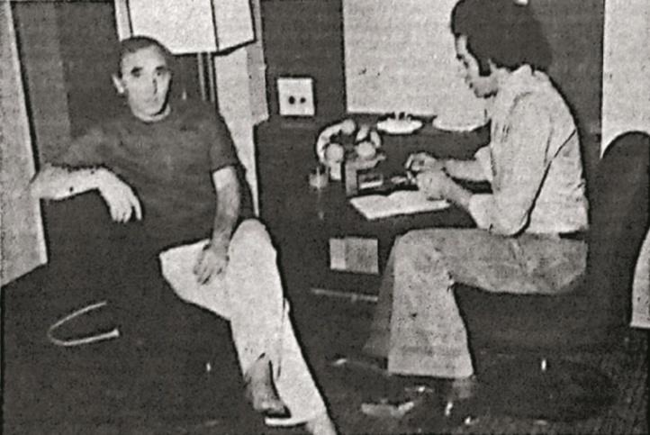 Bahij Bachir en compagnie  de Charles Aznavour  en 1977 à Damas