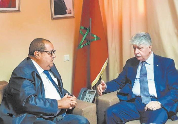 Driss Lachguar reçoit Ahmed El Majdalani, membre du comité exécutif de l'OLP