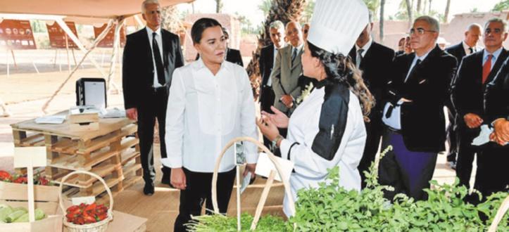 S.A.R la Princesse Lalla Hasnaa visite des projets de développement de la Palmeraie de Marrakech