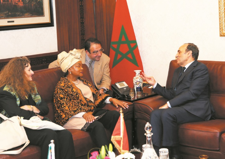 Habib El Malki s'entretient avec la présidente du Parlement sud-africain