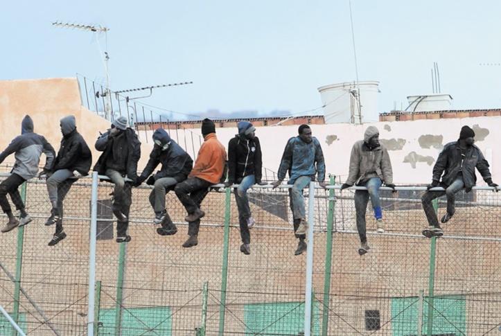 200 migrants irréguliers entrent en force à Mellilia