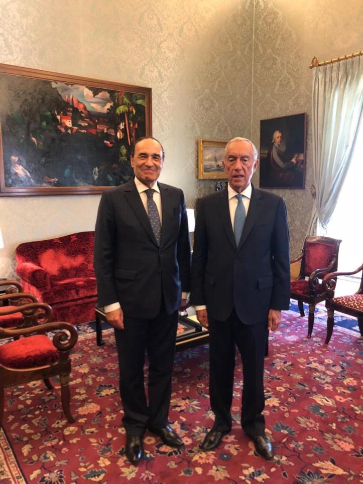 Le Président Marcelo Rebelo de Sousa et Habib El Malki.
