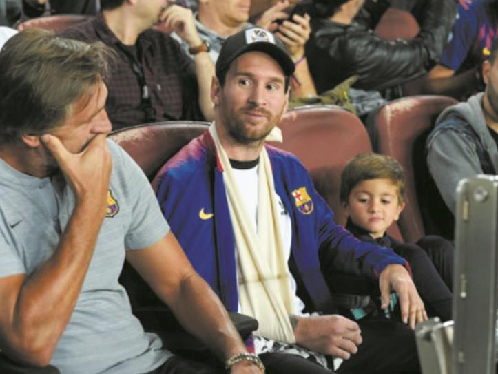 Messi reprend la course après sa blessure au bras