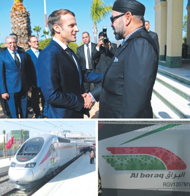 S.M le Roi et le Président français donnent le coup d'envoi du premier TGV d'Afrique et du monde arabe