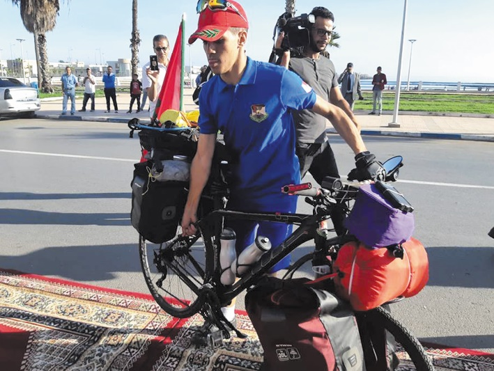 Ayad Meftahi relie El Jadida à Dakar à vélo
