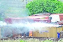 Gare Casa-Voyageurs  : Incendie de deux conteneurs