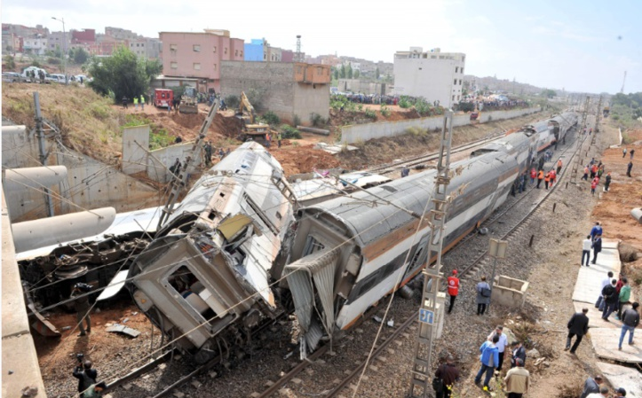 Accident ferroviaire à Sidi Bouknadel