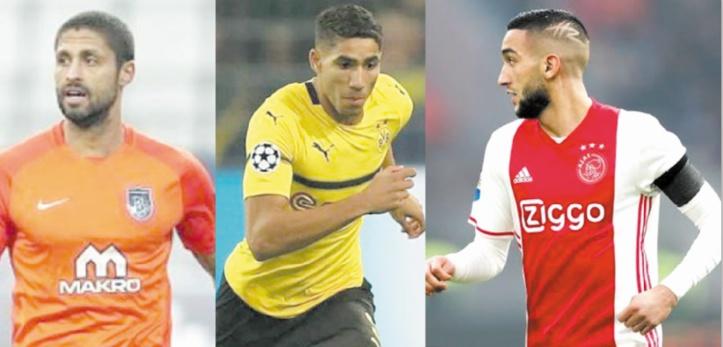 Da Costa, Hakimi et Ziyech dans l'équipe type des Africains de l'année