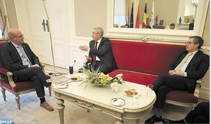 Mohamed Ben Abdelkader s'entretient avec le président du Parlement de la Fédération Wallonie-Bruxelles