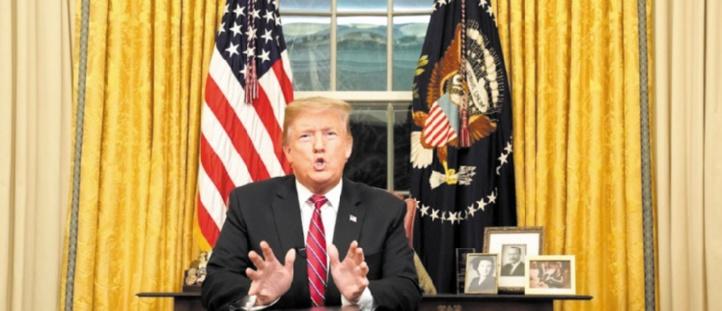 Trump défend le mur sur un ton solennel mais reste inflexible