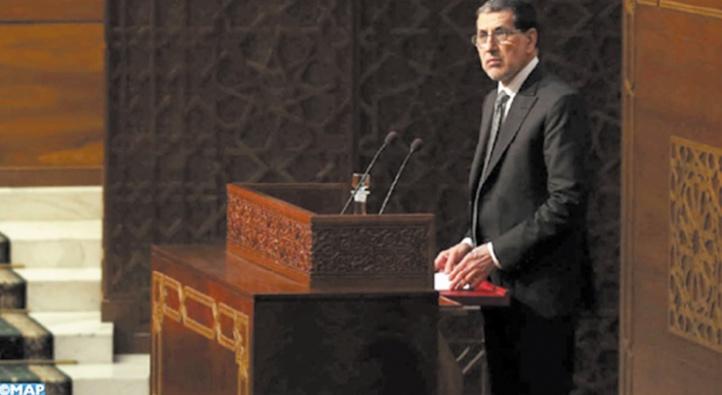 Saâd Dine El Otmani lors de la séance mensuelle de la Chambre des conseillers consacrée à la politique générale