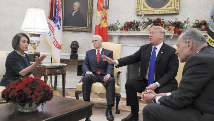 """Trump et Pelosi à couteaux tirés autour du """"shutdown"""""""