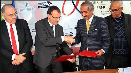 Accord de jumelage et de coopération entre les fédérations de cyclisme marocaine et française