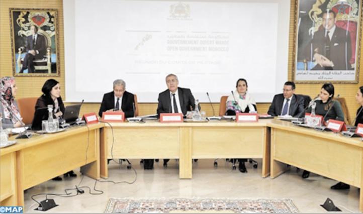 Réunion à Rabat du comité de pilotage du gouvernement ouvert