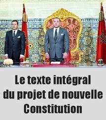 Le texte intégral du projet de nouvelle Constitution