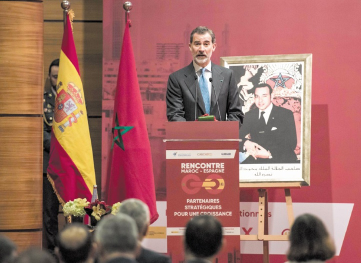 S.M Felipe VI : Le Maroc trouvera toujours en l'Espagne un partenaire fidèle et engagé