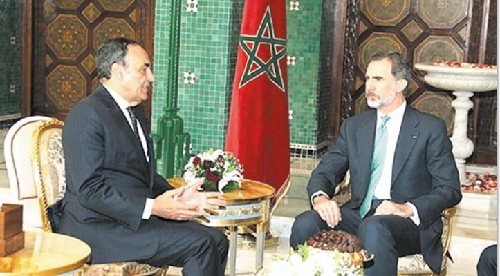 S.M Felipe VI reçoit Habib El Malki