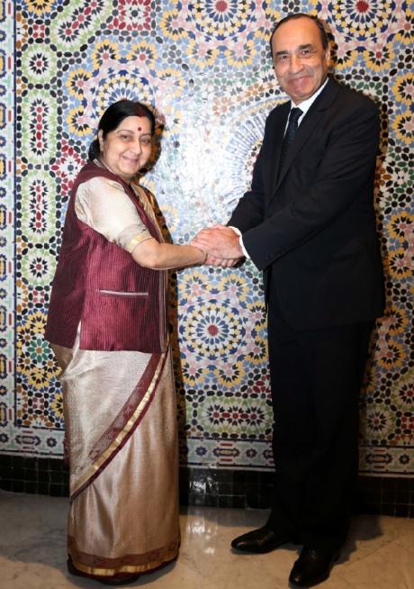 Habib El Malki s'entretient avec la ministre indienne des A.E