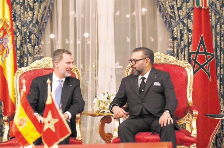 Entretiens entre S.M Mohammed VI et S.M Felipe VI lors de la dernière visite du Souverain espagnol au Maroc.