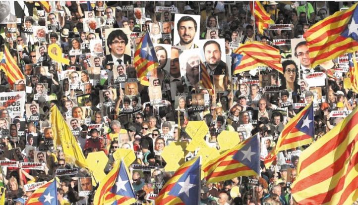Routes coupées pour protester contre le procès des indépendantistes catalans