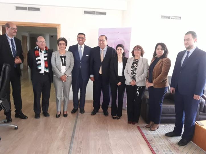 Driss Lachguar s'entretient avec la vice-secrétaire générale du parti de l'Entente nationale irakienne