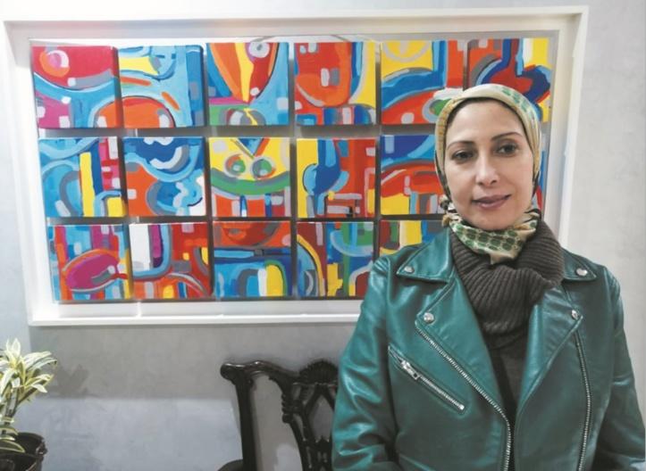 Mouna Benslimane plus que jamais portée sur des thématiques abstraites