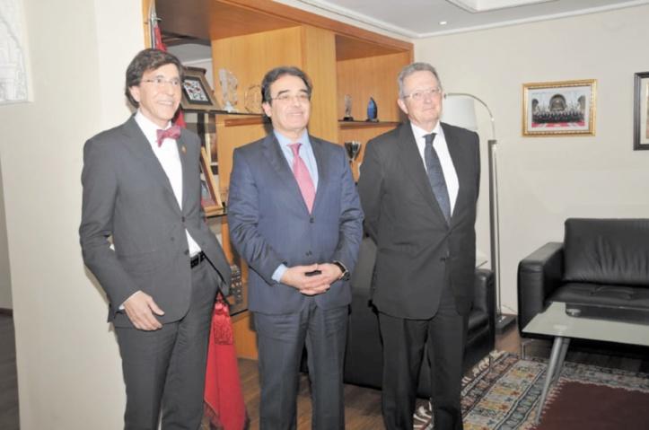 Abdelkrim Benatiq reçoit le président du Parti socialiste belge