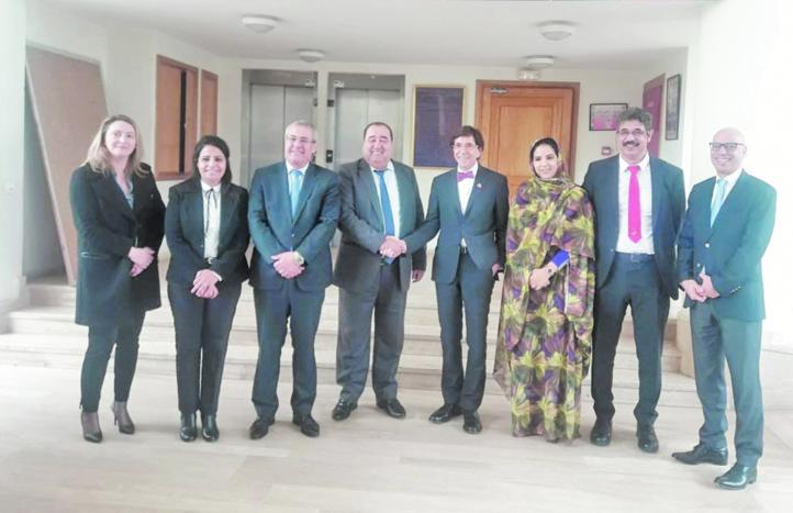 Driss Lachguar s'entretient avec  le président du Parti socialiste belge