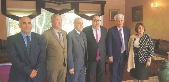 Driss Lachguar reçoit Nabil Chaath