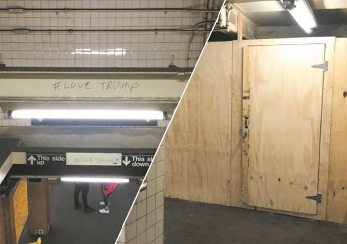 Insolite : Graffeur pro-Trump
