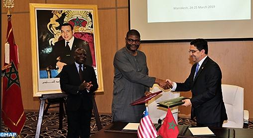 Signature de plusieurs accords de coopération entre le Maroc et le Libéria