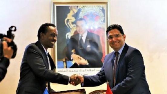 Le chef de la diplomatie somalienne réitère le soutien de son pays à notre intégrité territoriale