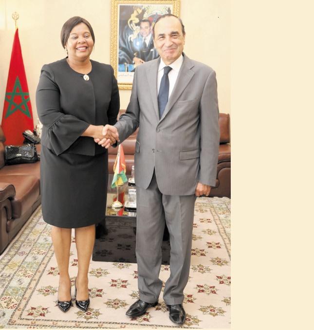 Habib El Malki reçoit la ministre des Affaires étrangères de Sao Tomé-et-Principe