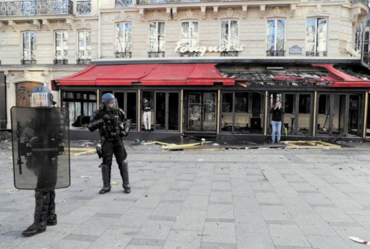 """Gilets jaunes : Paris saccagé, Paris """"épargné"""""""