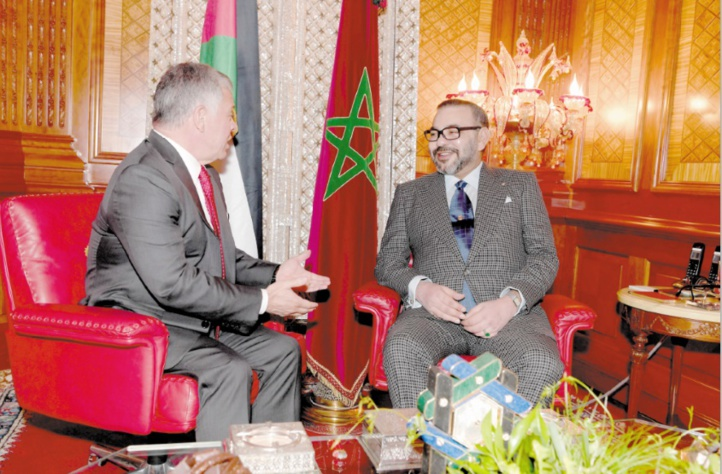 S.M Mohammed VI s'entretient en tête à tête avec le Souverain hachémite