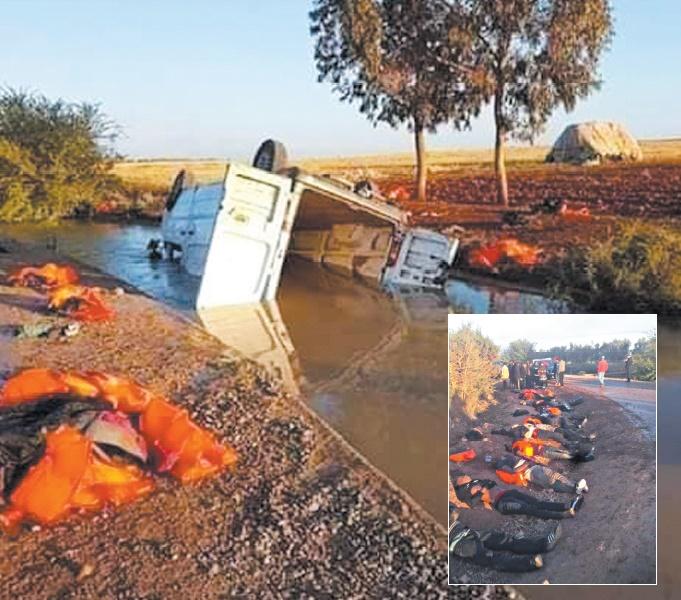 19 migrants irréguliers périssent dans un accident de la circulation