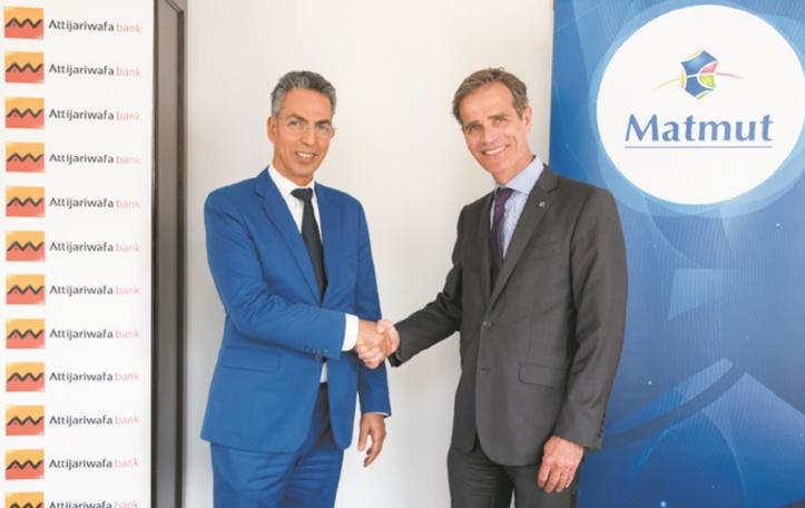 Abdelaziz Yaaqoubi, administrateur directeur général d'Attijariwafa bank Europe (à gauche) et Nicolas Gomart, directeur général de la Matmut © Alain Goulard.