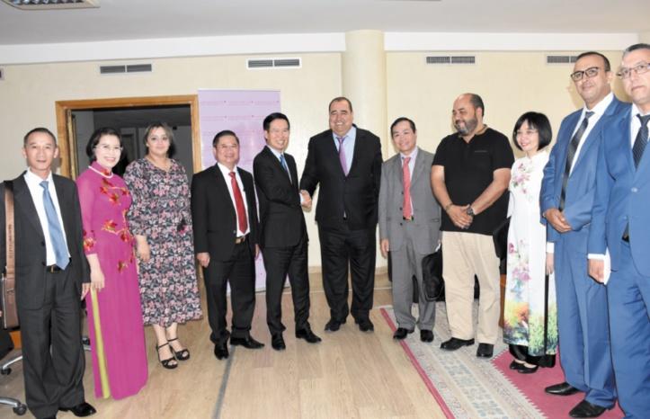 Driss Lachguar s'entretient avec Vo Van Thuong, membre dirigeant du Parti communiste vietnamien