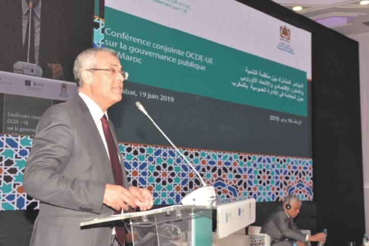 Lors de la conférence conjointe OCDE-UE : Mohammed Benabdelkader souligne l'importance accordée par le gouvernement à la politique d'amélioration de la qualité des services offerts aux citoyens