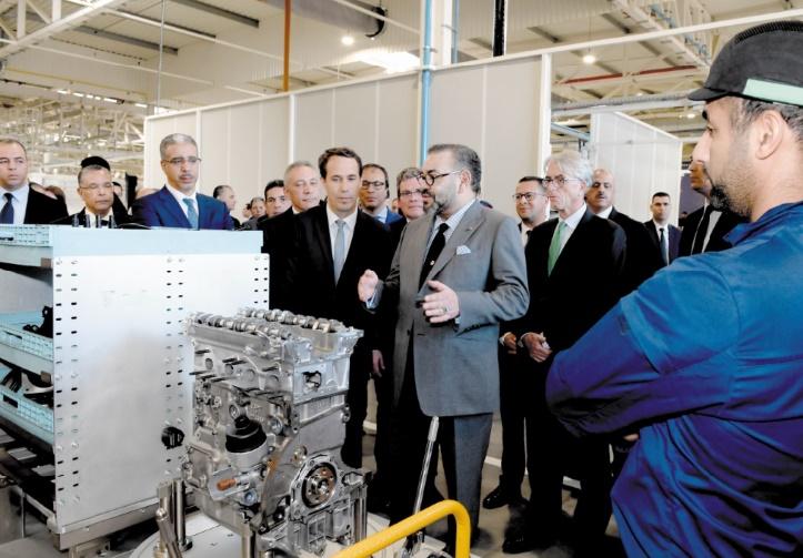 S.M le Roi préside la cérémonie d'inauguration de l'écosystème du Groupe PSA au Maroc