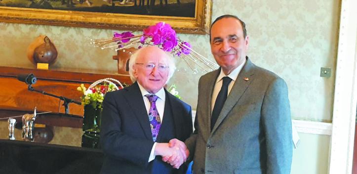 Le Président irlandais exprime son soutien au processus  onusien pour le règlement de la question du Sahara marocain