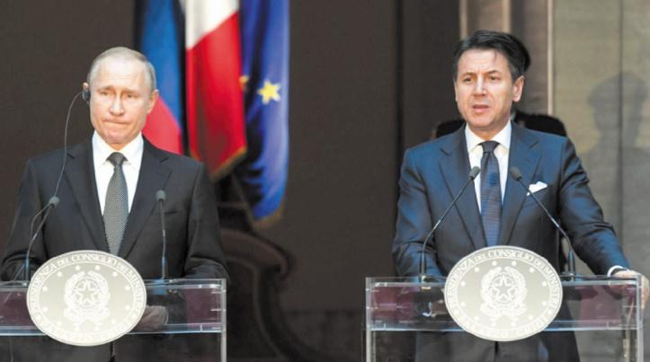 En visite en Italie, Poutine prône des relations avec l'UE sans sanctions