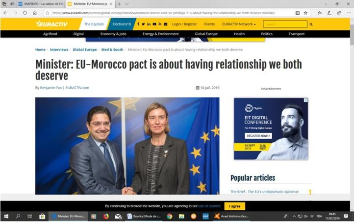 Le nouveau partenariat euro-marocain placé sous le signe de la prospérité partagée