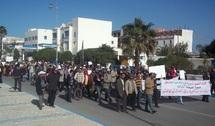 FDT, UMT, UNTM et UGTM protestent : Marche contre les lobbys de l'immobilier à Essaouira